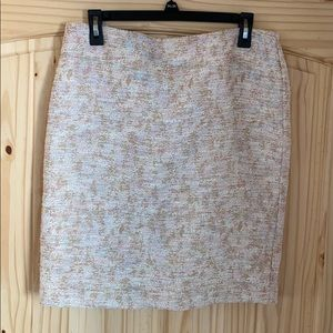 Ann Taylor pencil skirt pink and beige